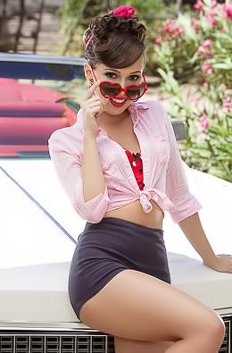Jenna Sativa - Vintage Car Striptease
