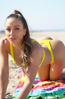 Abigail Mac First Enjoy Beach On A Sunny Day Then Real Good Sex