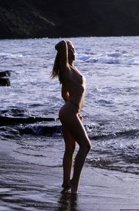 Crystal Klein Stripping Naked On The Beach