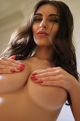 Big Boobs Hot Brunette