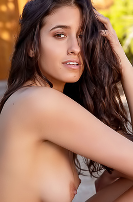 Megan Blake Beautiful Brunette Getting Naked