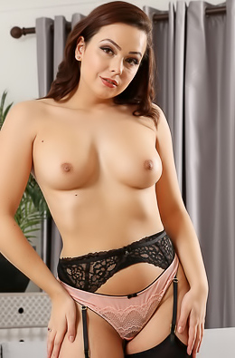 Alicia in black stockings